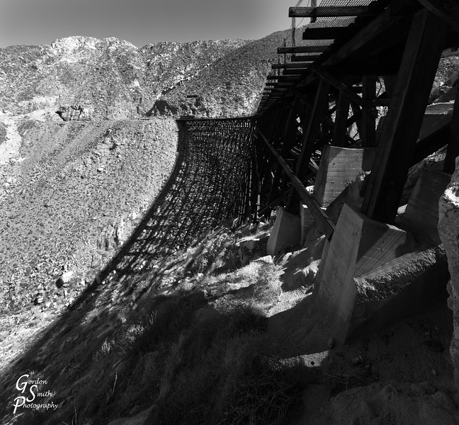 Goat Canyon Trestle Shadow in Monochrome