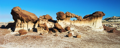 Bisti Arch #1.  This arch is only about 2 feet tall.  Amazing and delicate.