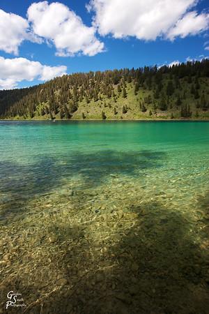 Crystal Clear Waters of Wade Lake, Montana.