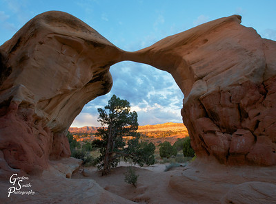 Reaching Out  Sunrise shot taken of the famous and delicate Metate Arch, in the Devil's Garden of Grand Staircase Escalante National Monument.