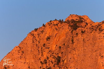 Close-up of Zion's North Guardian Angle Peak