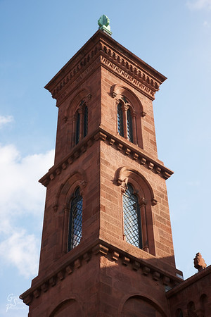 Smithsonian Castle Tower in the morning light.
