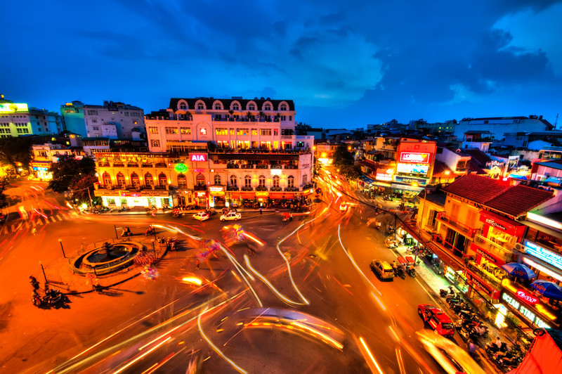 10-26-12 : This is probably one of the most popular spots in Hanoi for tourists to visit and get pictures of the city.