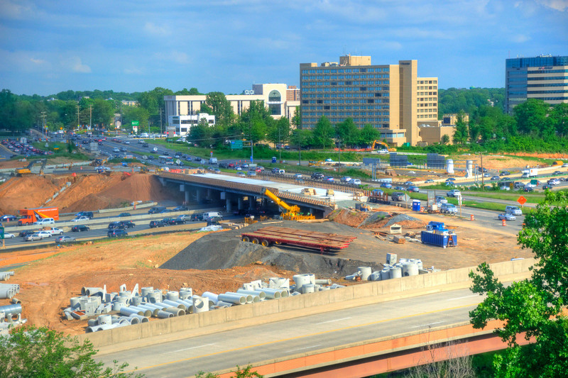 In Transition - Leesburg Pike bridge construction over i495.