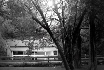 Barn at Rowan Oak, the home of William Faulkner, in Oxford MS