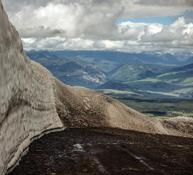 Snow Wall at Mt Washburn