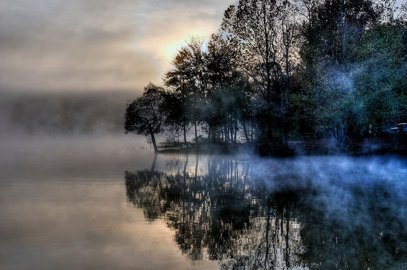 Salem Lake Foggy Sunrise #1