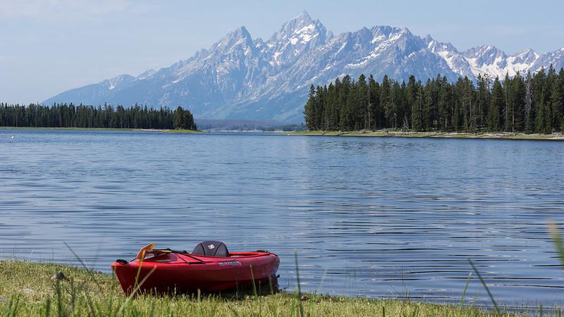 Jackson Lake Red Kayak