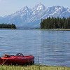 Jackson Lake Red Kayak
