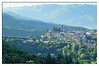 Barga, Italy photographed from a nearby resort---Il Ciocco.  The town takes one on a time machine, back hundred years.