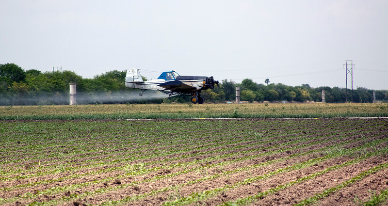 Crop dusting in deep South Texas somewhere between McAllen and Harlingen in April 2012. Not something I see everyday...7.3.12