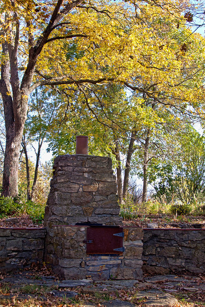 This was taken at Bothwell Lodge Historic Site near Sedalia, MO this past fall 2010. I can imagine cooking outdoors on this fireplace on a crisp fall night many years ago. A lot has changed since this place was built, but one thing hasn't--people still like to eat...1.26.12