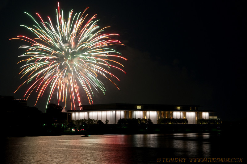 """Happy Independence Day!  Fireworks over Kennedy Center in Washington, D.C.<br /> More photos are in the gallery -  <a href=""""http://naturemuse.smugmug.com/gallery/8796259_tUXqu#582430953_TzCih"""">http://naturemuse.smugmug.com/gallery/8796259_tUXqu#582430953_TzCih</a>"""