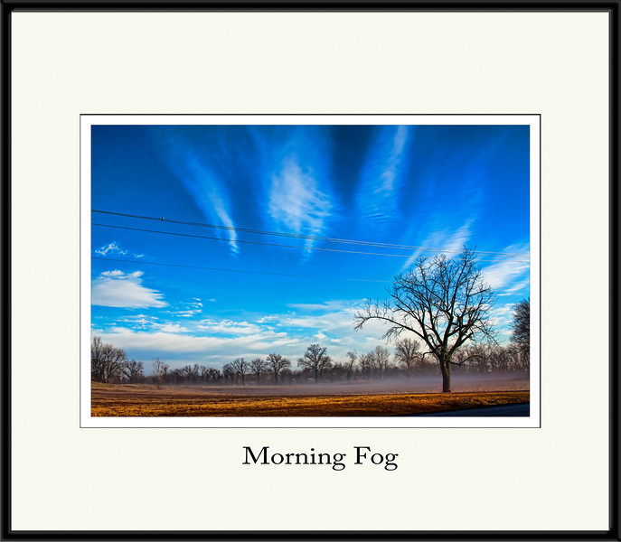 I got a late start this morning chasing the fog. After photoshopping the heck out of a couple shots, I decided my best shot was my first one. Here you have it. <br /> <br /> Thanks for all your support and kind comments. 2.1.12