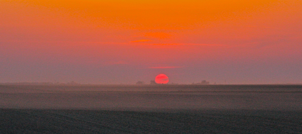 """""""Dusty Sunset""""<br /> <br /> <br /> """"When I admire the wonder of a sunset or the beauty of the moon, my soul expands in worship of the Creator""""~Mahatma Gandhi~"""