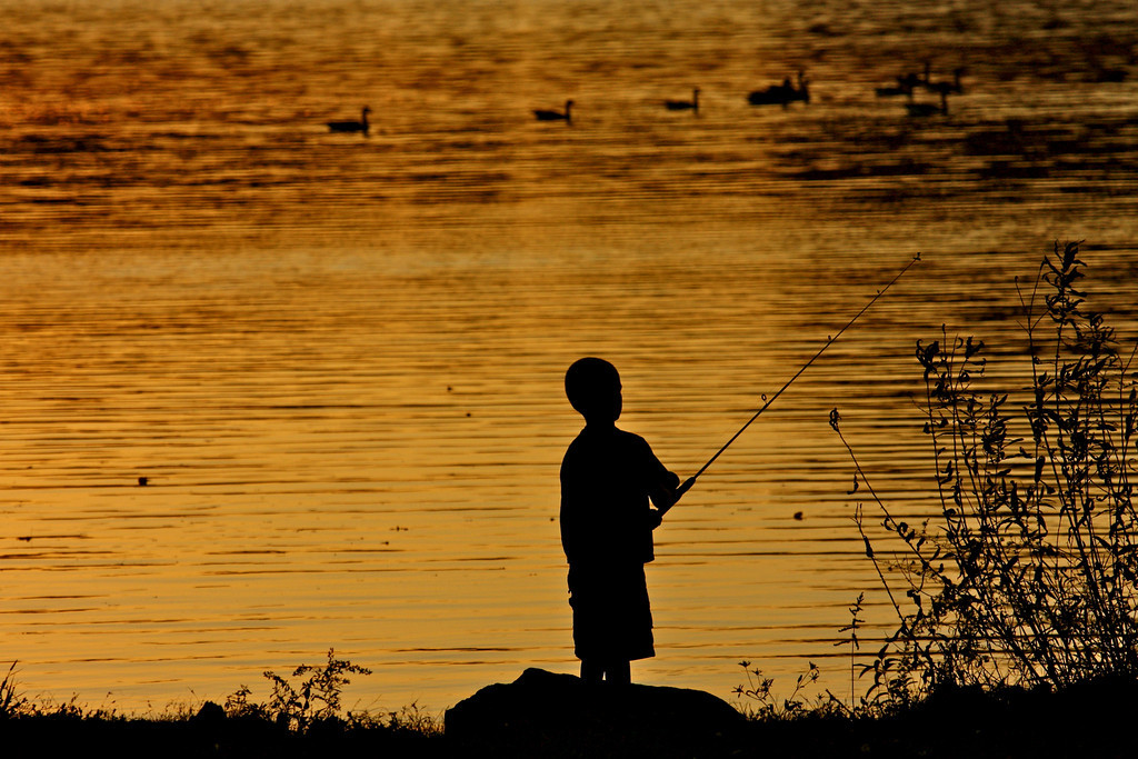 """Little"" Fishing<br /> <br /> <br /> <br /> All I can say to the kids is if you've a problem in fishing or life, if you talk to an older person, you're gonna end up alright, because nine times out of 10, they've been through the same thing. ~Rex Hunt ~"