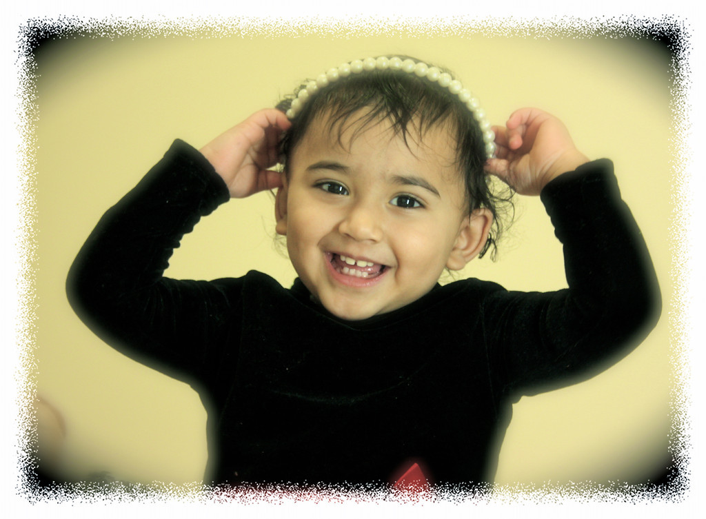 """Little Princess""<br /> <br /> <br /> A quick shot of my friend's daughter Deeptha :-)<br /> <br /> <br /> A child's smile is like a ray of sunshine on a cloudy day.~"