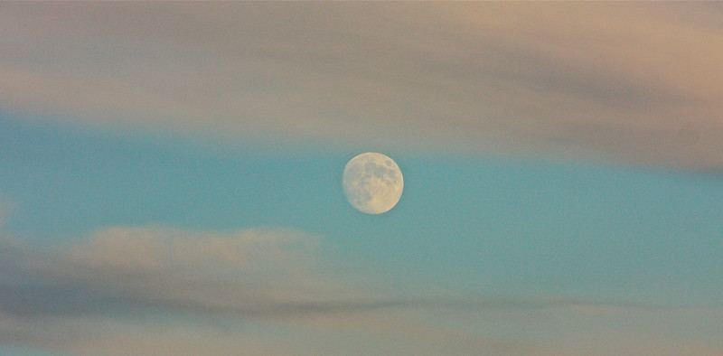 """Between the Clouds""<br /> <br /> ""I like to think that the moon is there even if I am not looking at it""~ Albert Einstein"