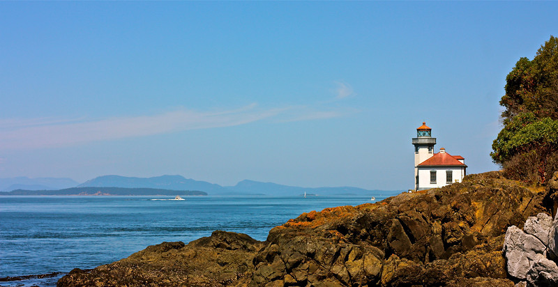 """Light House - Friday Harbor,WA""<br /> <br /> Walking with a friend in the dark is better than walking alone in the light.~Helen Keller"