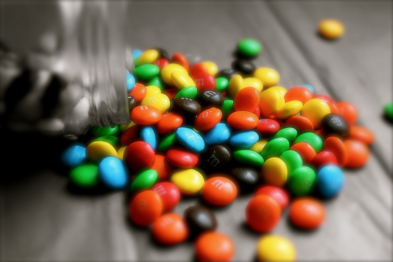 """ yum and yums ""<br /> <br /> <br /> My therapist told me the way to achieve true inner peace is to finish what I start. So far today, I have finished 2 bags of M&M's and a chocolate cake. I feel better already.  ~Dave Barry~"