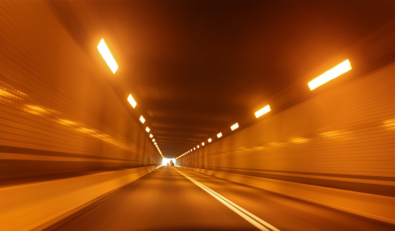 """Through the tunnel""<br /> <br /> Took this shot by keeping the camera on the dashboard while the car was moving around 60 mph.<br /> <br /> <br /> ""Carve a tunnel of hope through the dark mountain of disappointment."" ~Martin Luther King, Jr. ~"