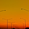"""Street Lights""<br /> <br /> <br /> Some times traffic jam on highway lets you enjoy evening colors and take a quick shot :-)<br /> <br /> <br /> <br /> ""The stars are the street lights of eternity."""