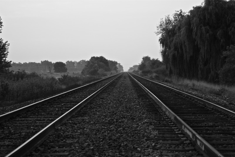 """Parallel Tracks""<br /> <br /> <br /> ""It is remarkable how easily and insensibly we fall into a particular route, and make a beaten track for ourselves""~Henry David Thoreau~"