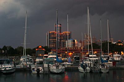 Storm brewing at William Milliken State Park  Detroit, Mi.