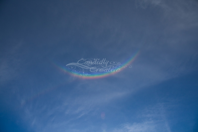 Upside down Rainbow- I have never seen a rainbow do this before - it was like a big grin in the sky lol :)