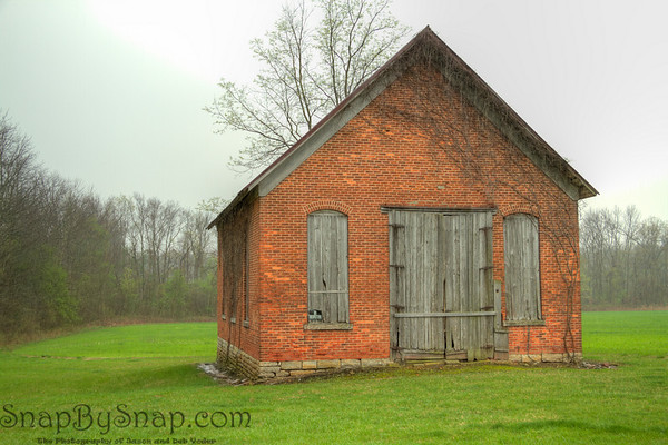 Old Indiana School House.  While driving home I decided to get of the interstate for a while and found this old one room school house.  It was raining so I had to shoot from inside the car.