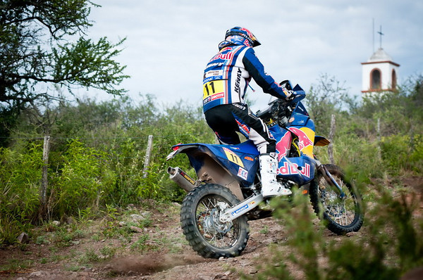 Ruben Faria in action during the secound stage of Dakar Rally between Cordoba and Tucuman, Argentina on january 3rd, 2011