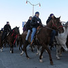 Nearly 60 Dakota horse riders make their way into Reconciliation Park to commemorate the hanging of 38 Dakota in Mankato 125 years ago. The riders left South Dakota on Dec. 10.