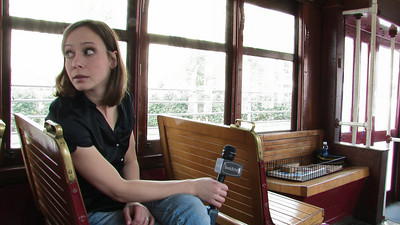 Cali on the Trolley  We shot the open and close for GBTV #306 on the Dallas Trolley