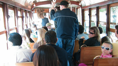 People on the Dallas Trolley