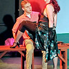 "Mark Maynard | for The Herald Bulletin<br /> In ""Damn Yankees"" presented by Anderson's Mainstage Theartre, Joe Hardy (Sean Smith) is in shock as he discovers that whatever Lola (Liz Justice) wants, Lola gets."