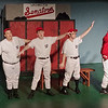 """Mark Maynard   for The Herald Bulletin<br /> Washington Senators players and their Manager explain in song that, even if they do not have the greatest record, they still have """"miles and miles of heart."""""""
