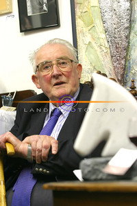 Local story teller Dan Keane at the Blue Umbrella Gallery official opening in Listowel. pic: Manuela Dei Grandi/Landy Photo