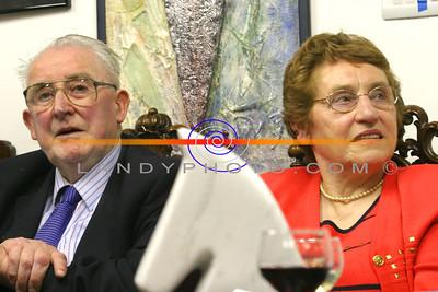 Dan Keane and Ella Corridan at the official opening of the Blue Umbrella Gallery in Listowel. pic: Manuela Dei Grandi/Landy Photo