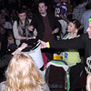 Dave Thompson collects votes from the crowd during Dancing With the Mankato Stars Saturday.