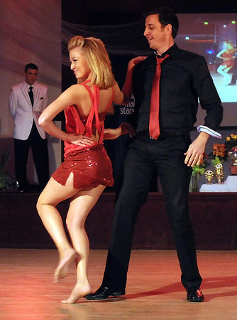 Scott Bergs and Emma Glaser perform a Latin jazz number during Saturday's Dancing With the Mankato Stars.