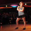 """Nicole Mueller dances to """"Jailhouse Rock"""" with Mankato Director of Public Safety Todd Miller (not pictured) during Dancing With the Mankato Stars Saturday."""