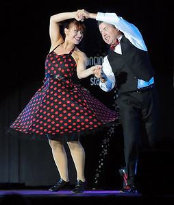 Pat Christman Kevin Hardesty dances with Jessica Alstad during Dancing with the Mankato Stars Saturday at the Verizon Wireless Center. The pair were the event's overall winners.
