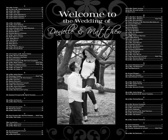Danielle and Matthew- Seating Chart