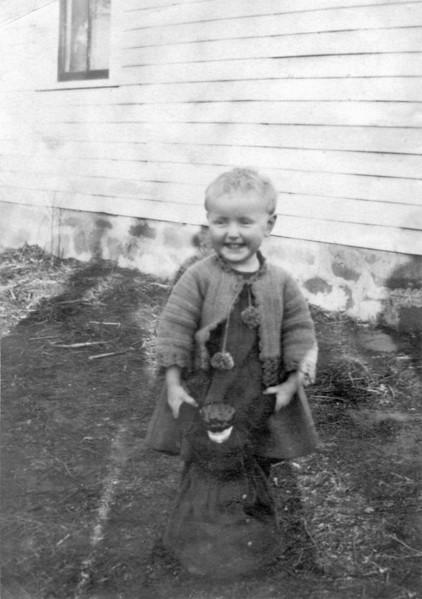 Marjorie Mathilda Blanche Larson with her doll