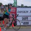 Kari on the left beginning the bike