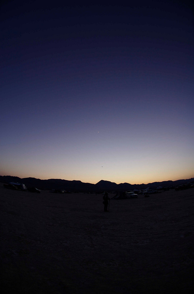 An evening view just after sunset.