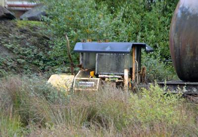 74047 4w Ballast Packer at Meldon Quarry  28/08/15.