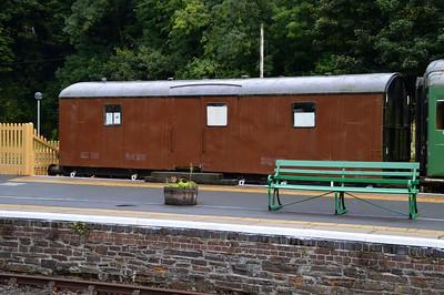 889022 14t Motor Car Van at Okehampton Station  28/08/15.