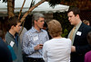 Dan Leopold '10 is networking with the Kidder family 'til the end.