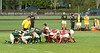 There are lots of scrums in rugby.